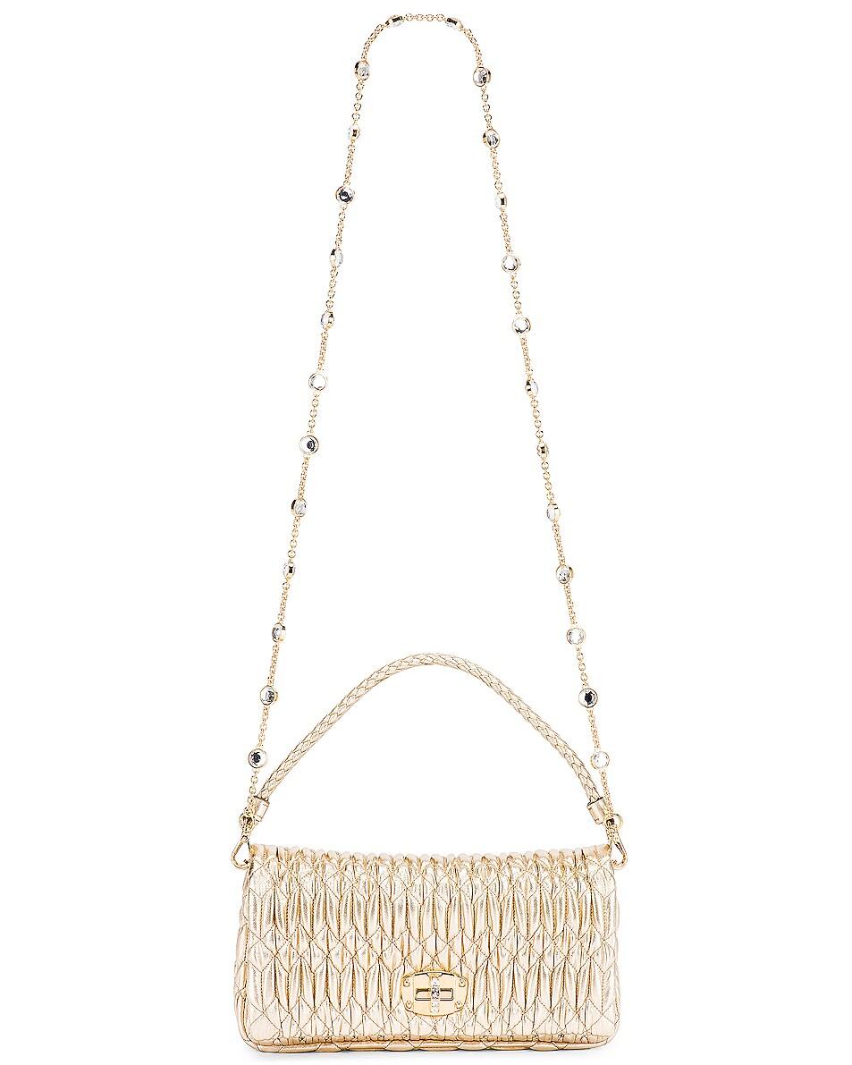Image 6 of Miu Miu Crystal Chain Bag in Gold