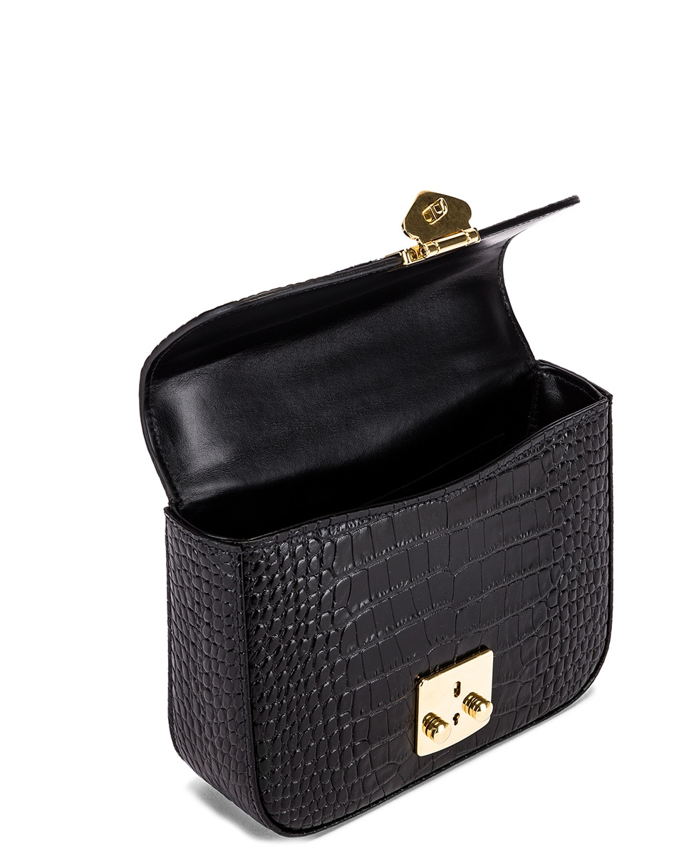Image 5 of Miu Miu Croc Crossbody Bag in Black