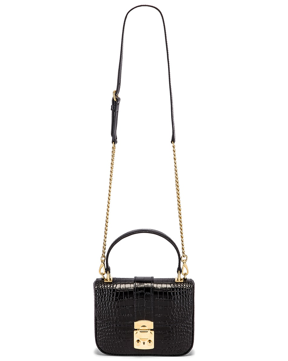 Image 6 of Miu Miu Croc Crossbody Bag in Black