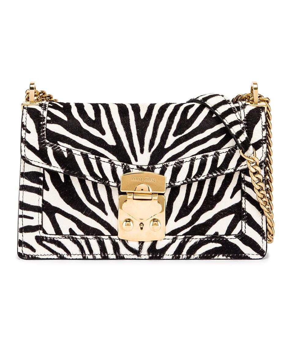 Image 1 of Miu Miu Zebra Bag in White & Black