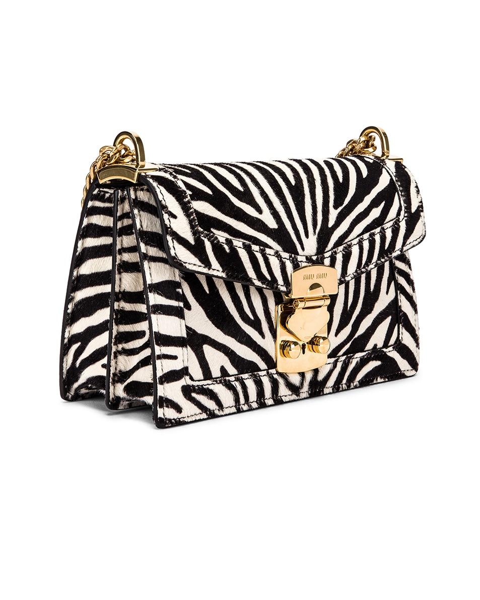 Image 4 of Miu Miu Zebra Bag in White & Black