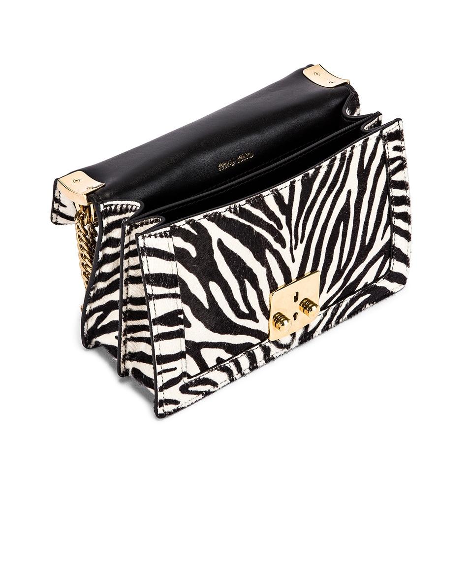 Image 5 of Miu Miu Zebra Bag in White & Black