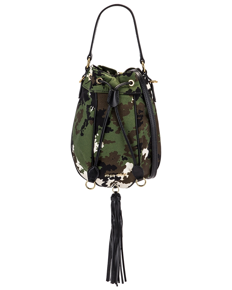 Image 1 of Miu Miu Camouflage Pouch Bag in Militaire