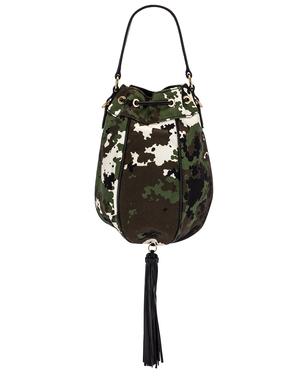 Image 2 of Miu Miu Camouflage Pouch Bag in Militaire