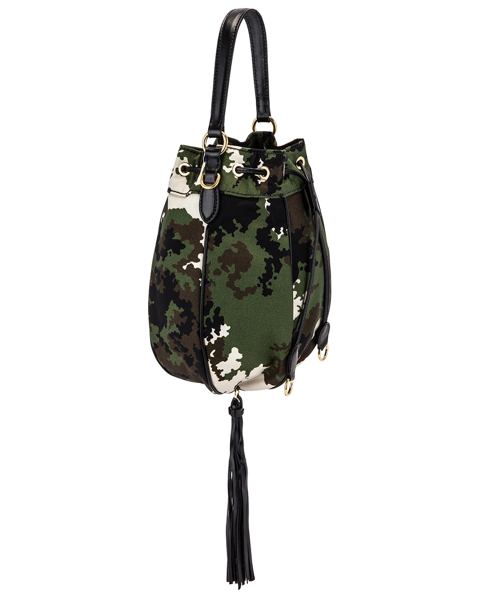 Image 3 of Miu Miu Camouflage Pouch Bag in Militaire