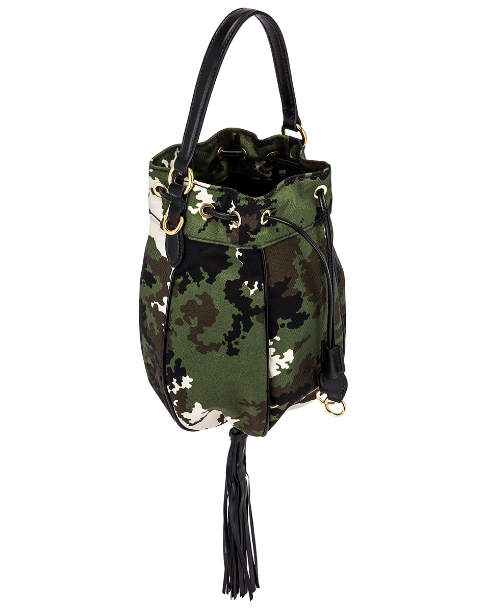 Image 4 of Miu Miu Camouflage Pouch Bag in Militaire