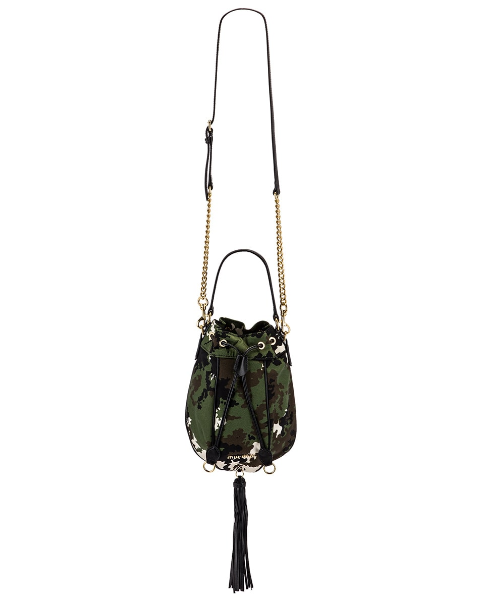 Image 5 of Miu Miu Camouflage Pouch Bag in Militaire