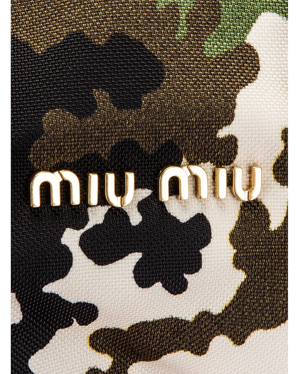 Image 7 of Miu Miu Camouflage Pouch Bag in Militaire