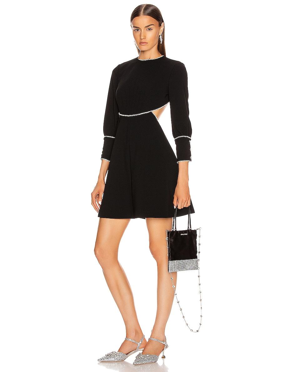 Image 2 of Miu Miu Starlight Shoulder Bag in Black