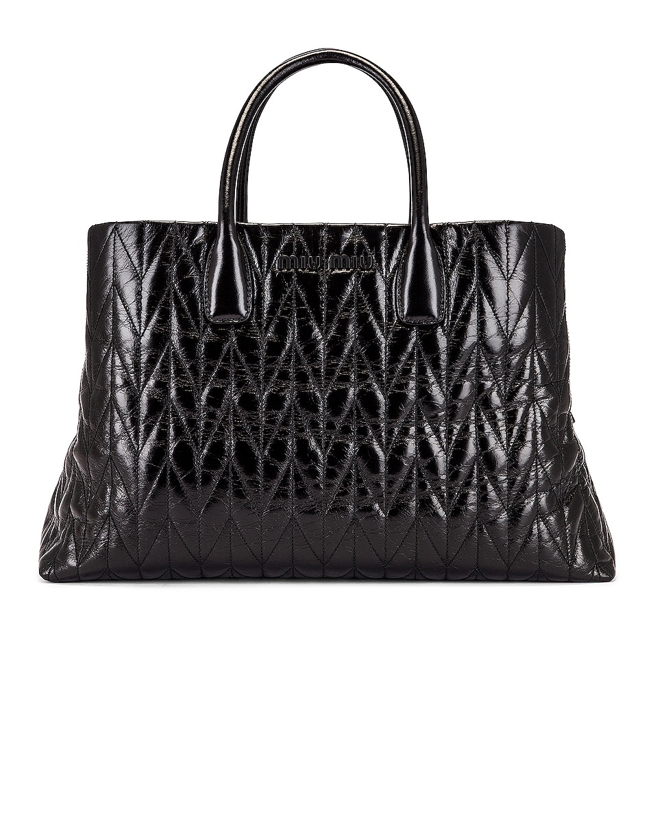 Image 1 of Miu Miu Leather Shoulder Bag in Black