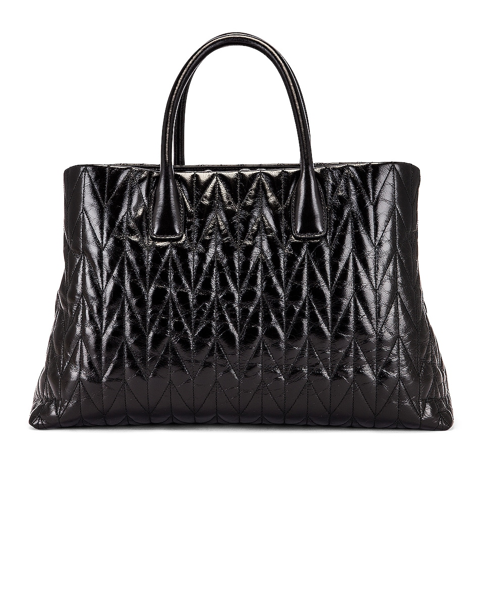 Image 3 of Miu Miu Leather Shoulder Bag in Black