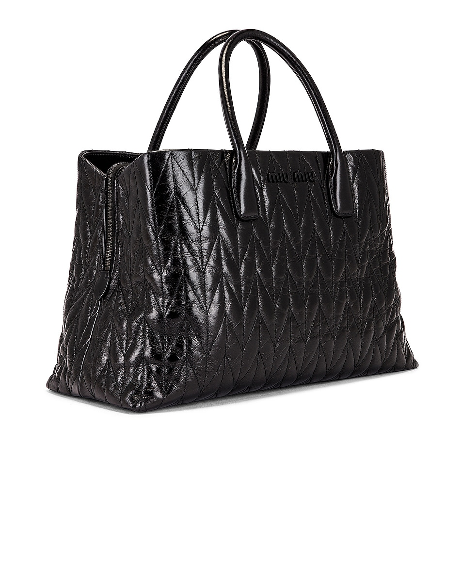 Image 4 of Miu Miu Leather Shoulder Bag in Black