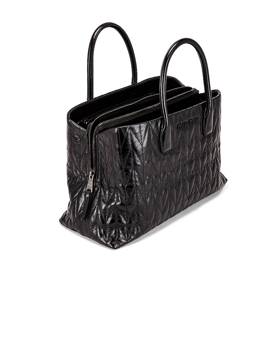 Image 5 of Miu Miu Leather Shoulder Bag in Black