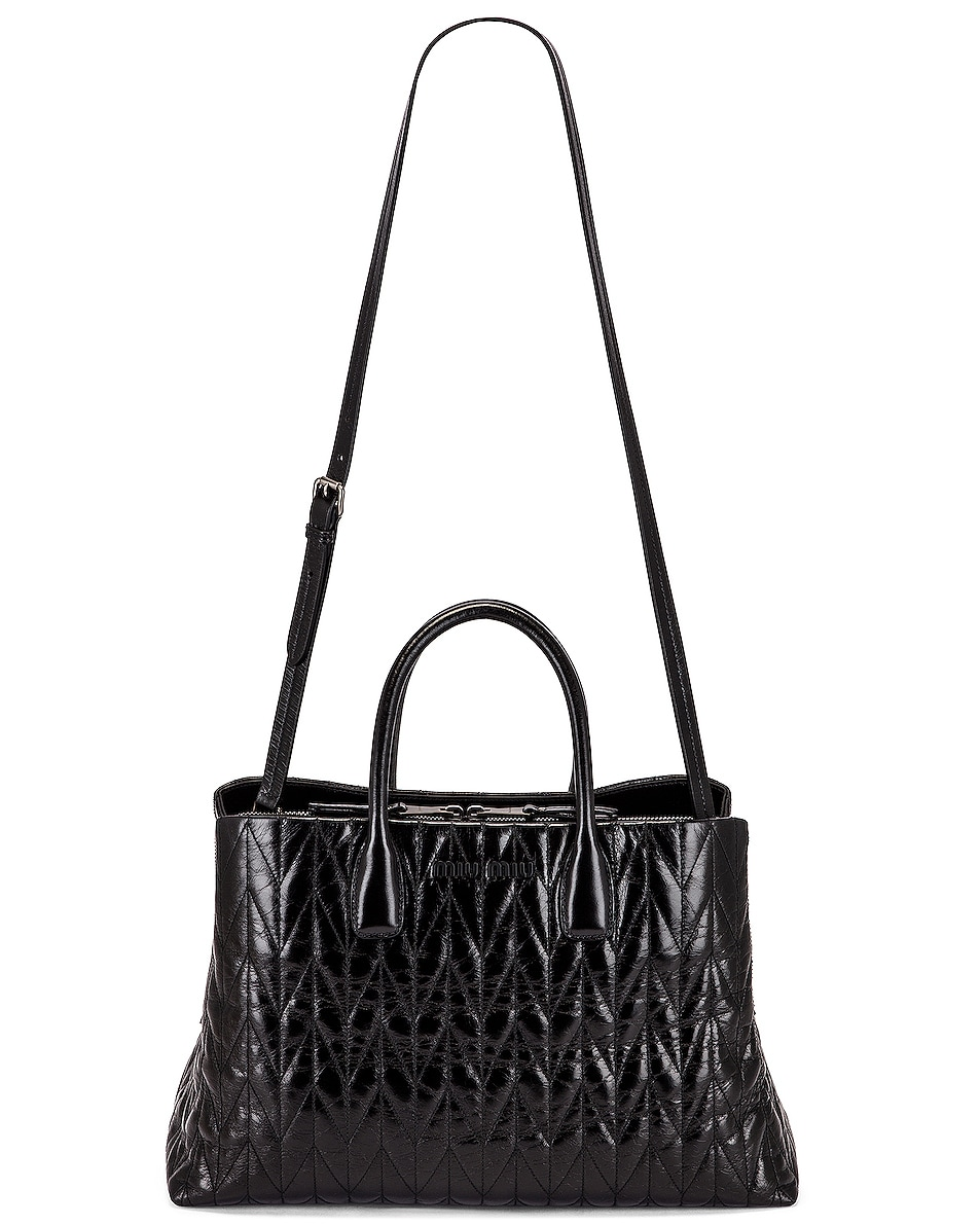 Image 6 of Miu Miu Leather Shoulder Bag in Black