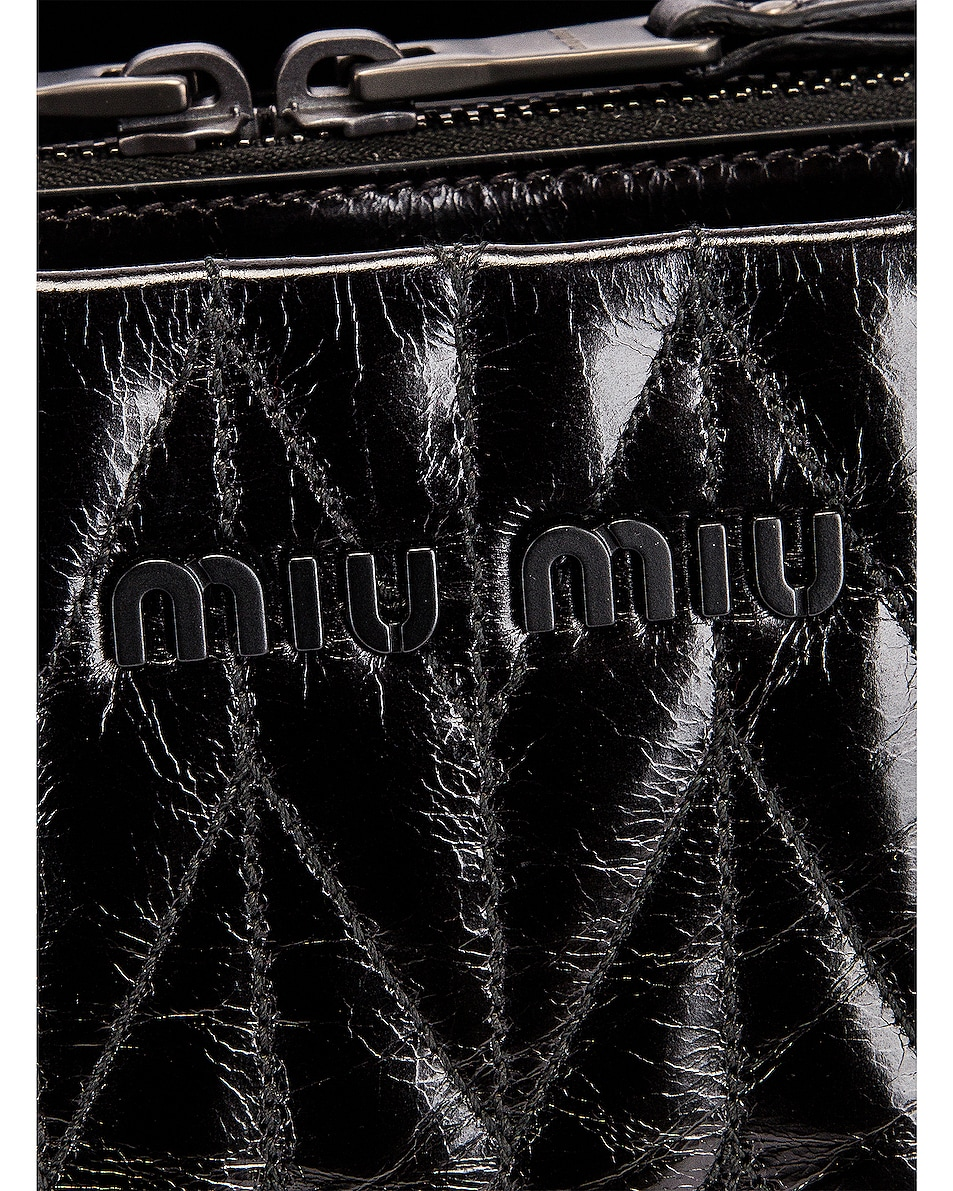 Image 8 of Miu Miu Leather Shoulder Bag in Black