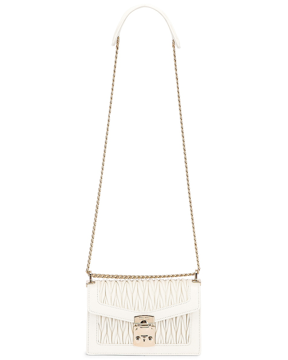 Image 5 of Miu Miu Quilted Leather Bag in White