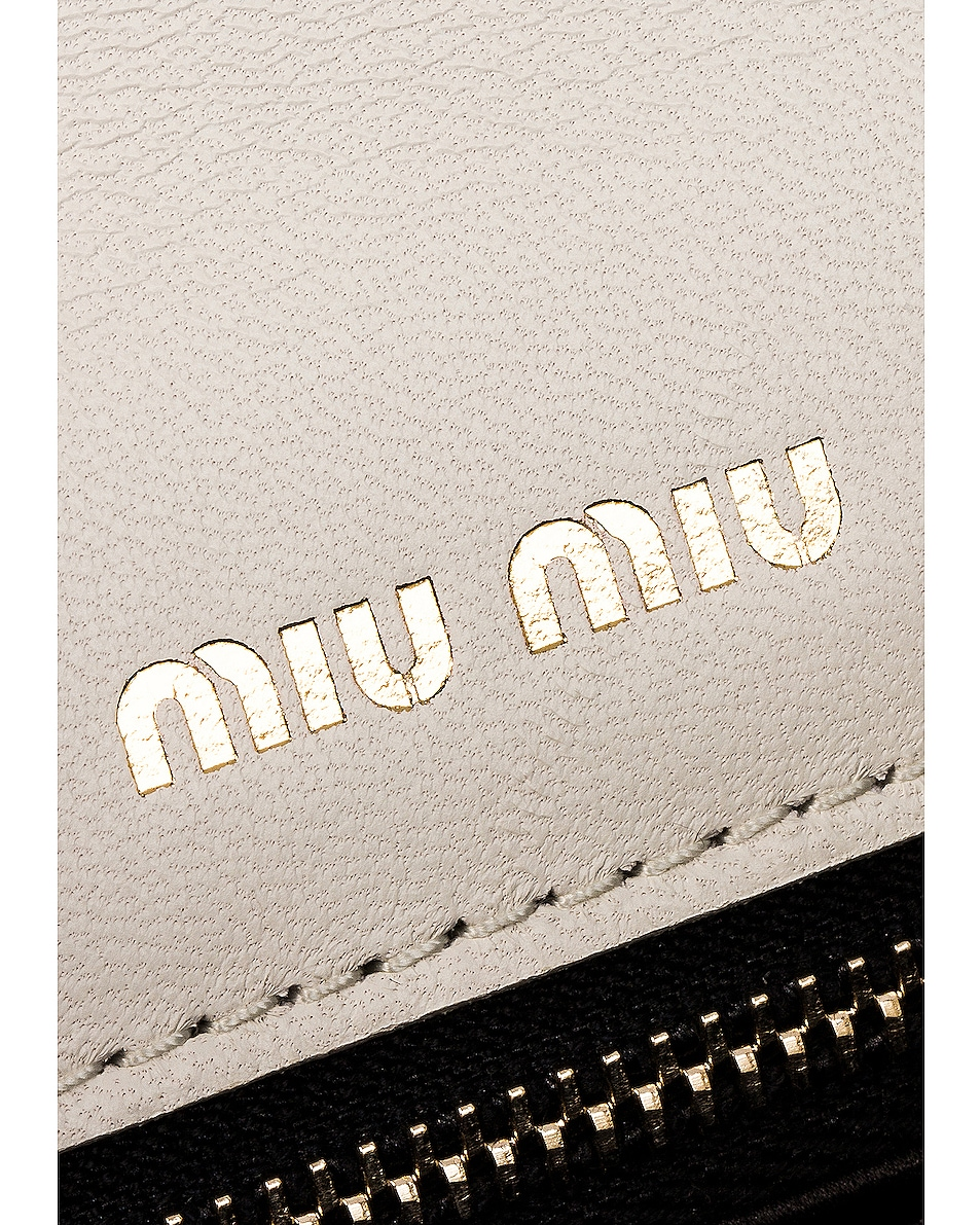 Image 6 of Miu Miu Quilted Leather Bag in White