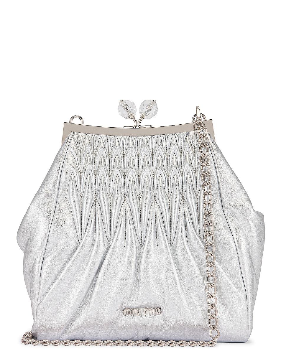 Image 1 of Miu Miu Pouch Shoulder Bag in Argento
