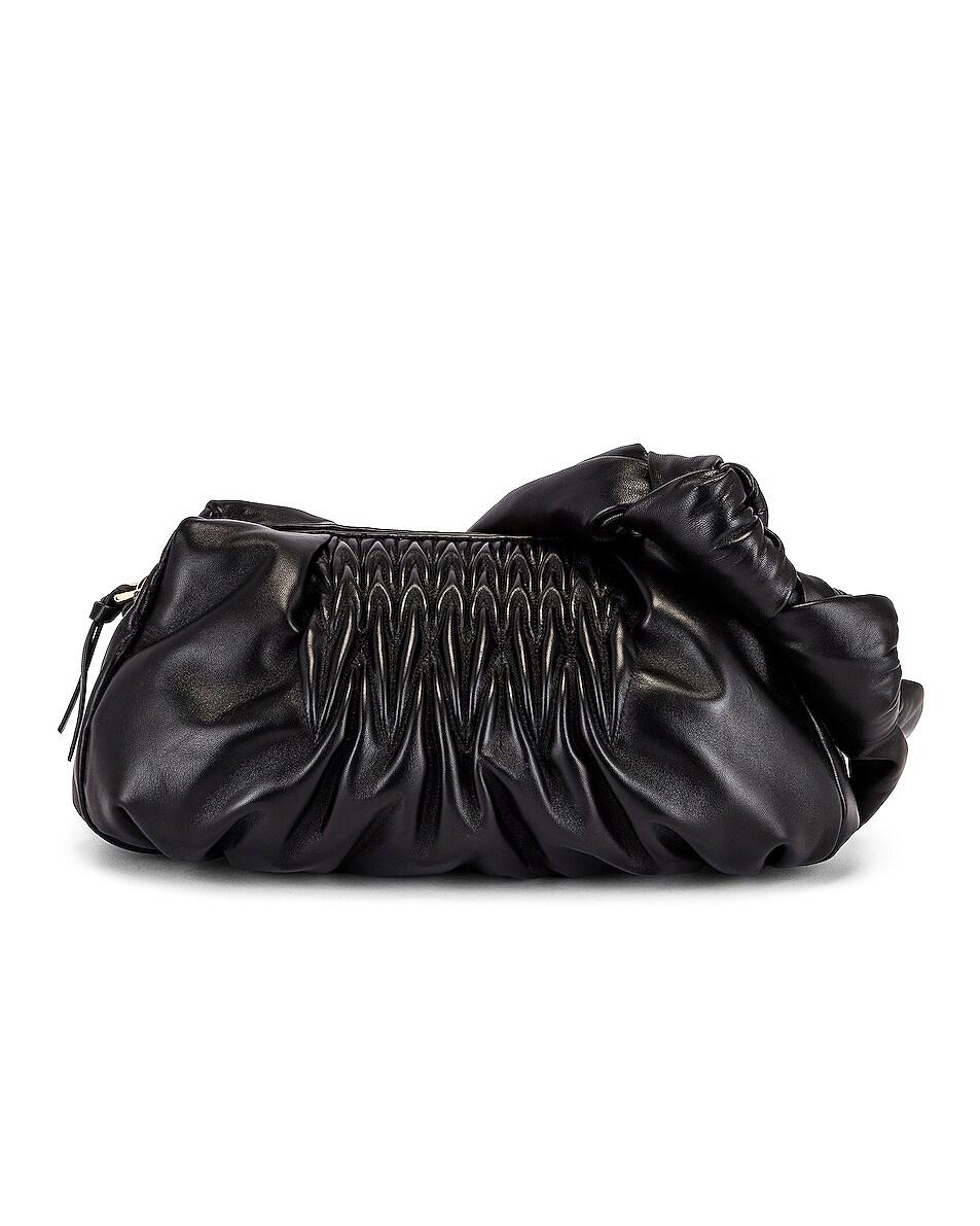 Image 1 of Miu Miu Ruched Shoulder Bag in Nero