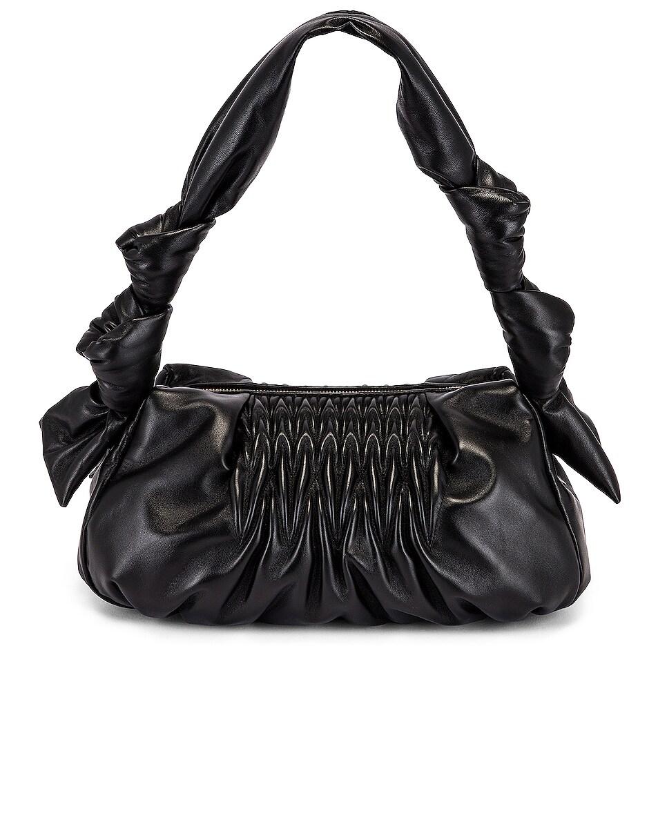 Image 6 of Miu Miu Ruched Shoulder Bag in Nero