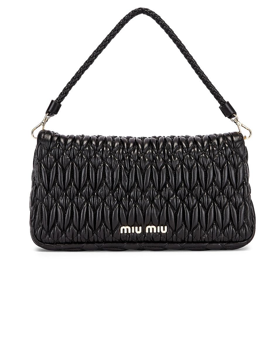 Image 3 of Miu Miu Crystal Chain Bag in Black