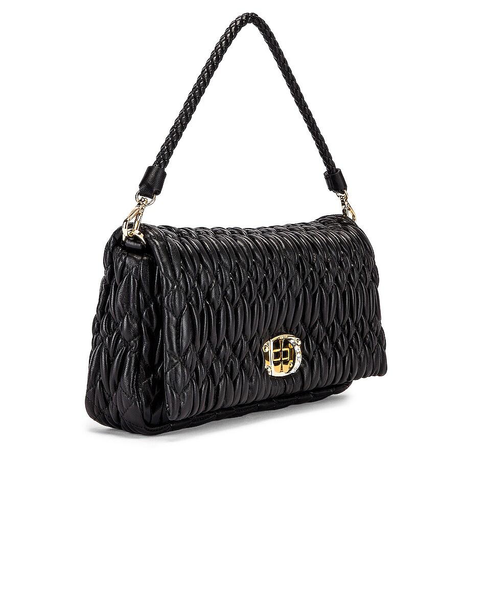 Image 4 of Miu Miu Crystal Chain Bag in Black
