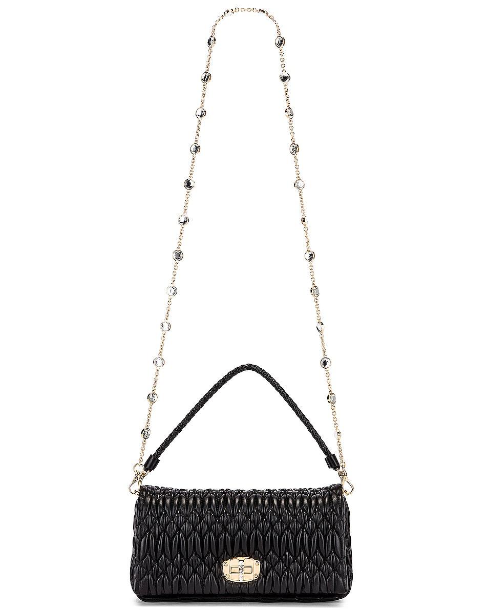 Image 6 of Miu Miu Crystal Chain Bag in Black