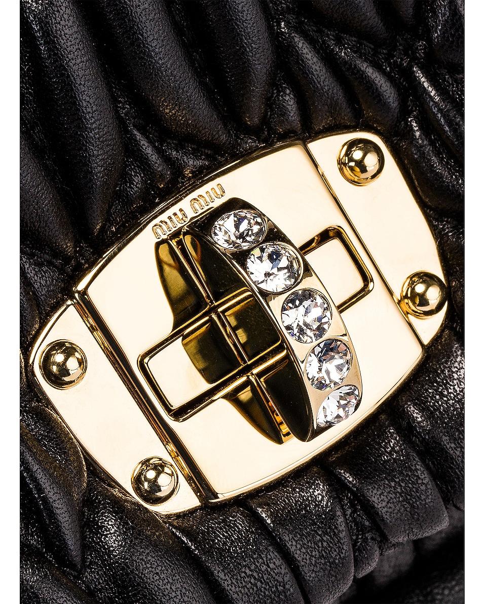 Image 8 of Miu Miu Crystal Chain Bag in Black