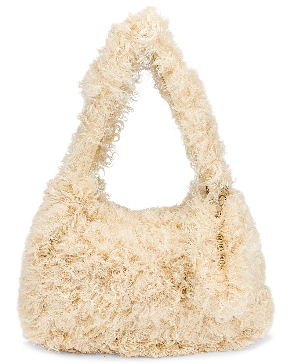 Image 1 of Miu Miu Montone Shoulder Bag in Avorio