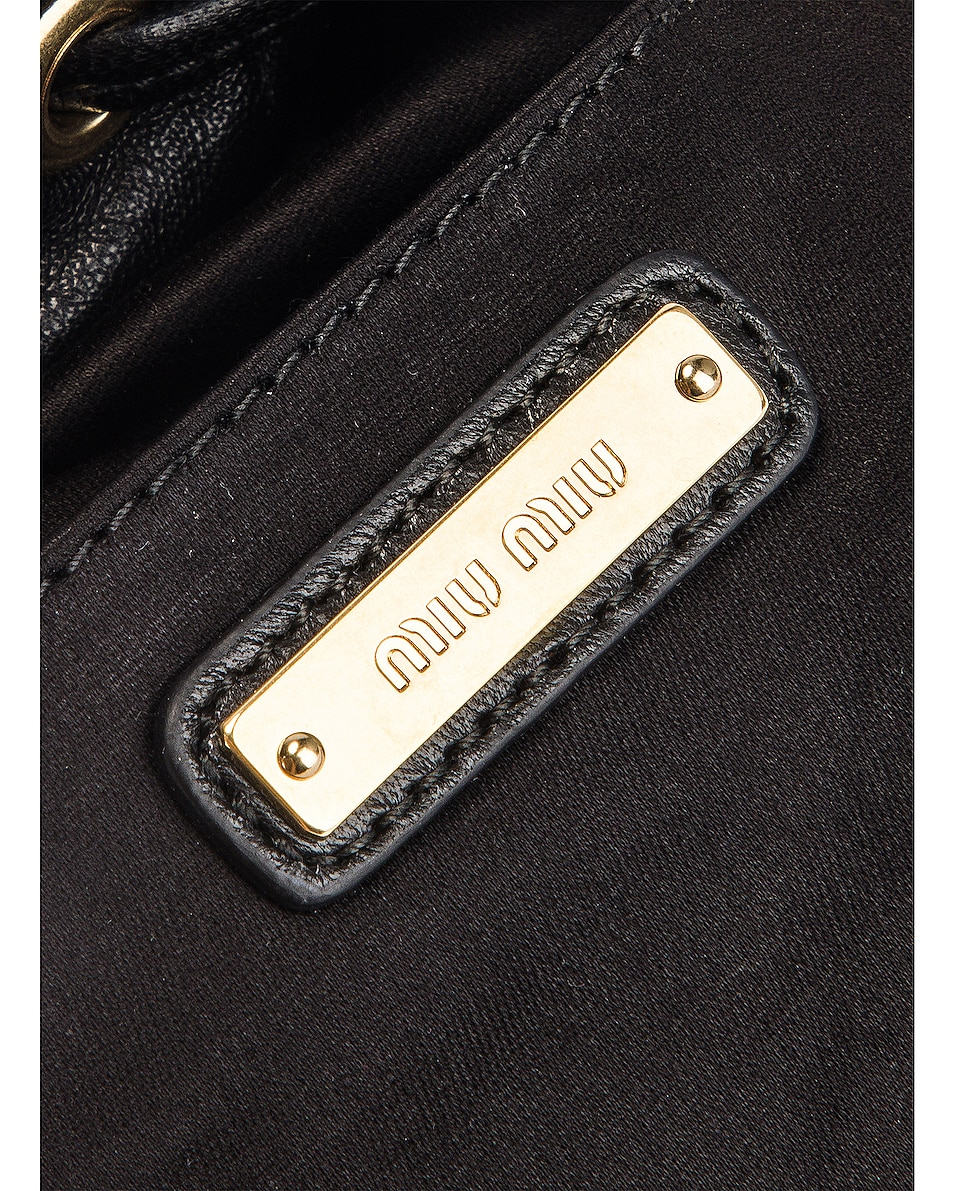 Image 7 of Miu Miu Quilted Bucket Bag in Black