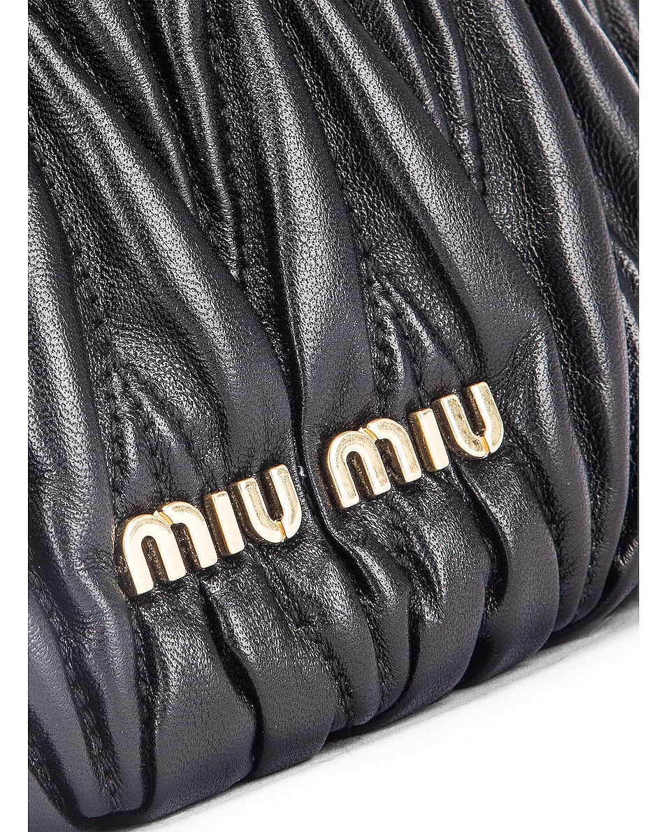 Image 8 of Miu Miu Quilted Bucket Bag in Black