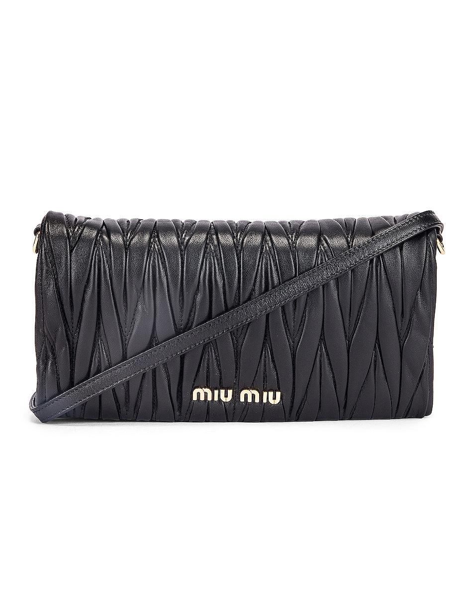 Image 1 of Miu Miu Quilted Crossbody Bag in Black