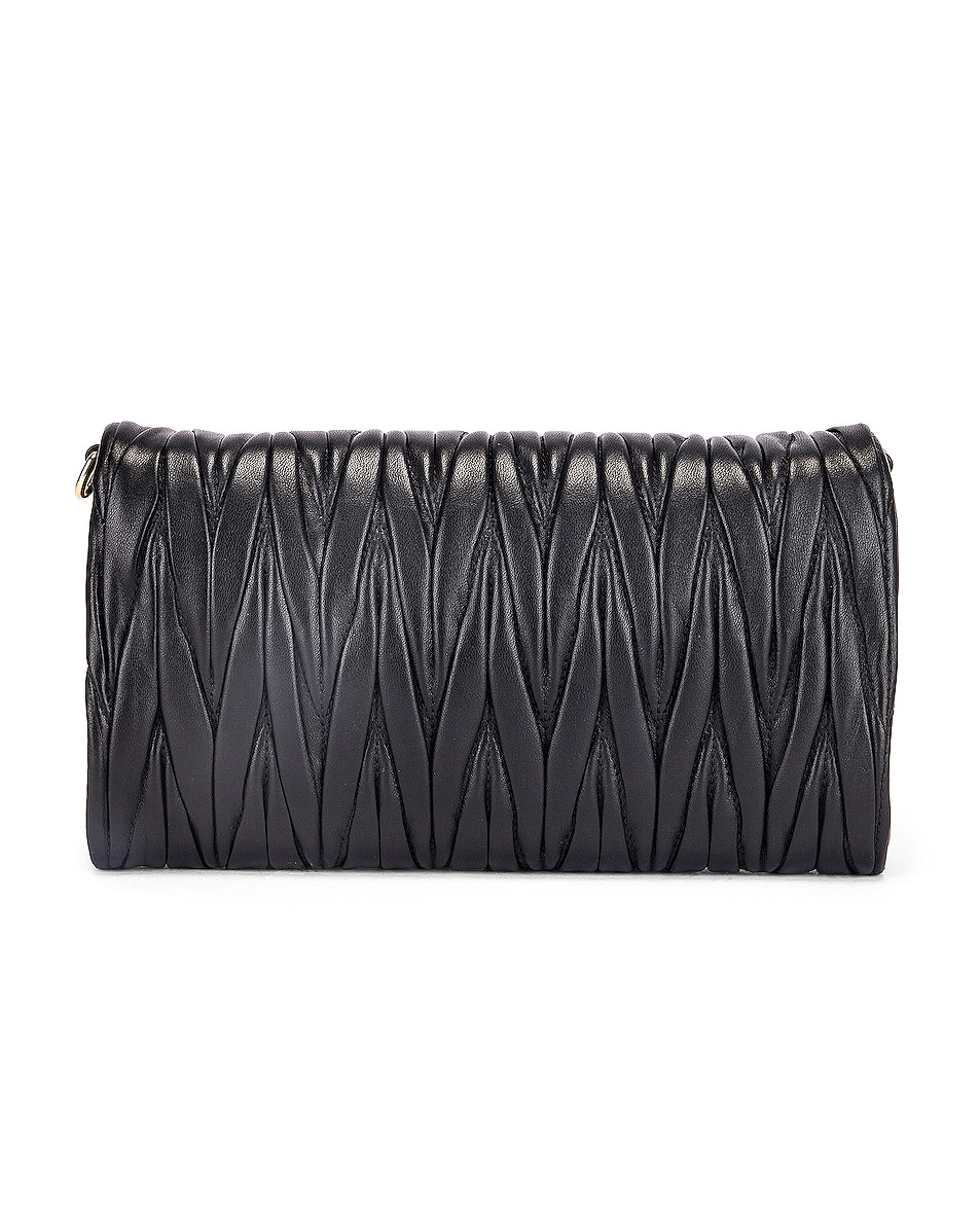 Image 3 of Miu Miu Quilted Crossbody Bag in Black