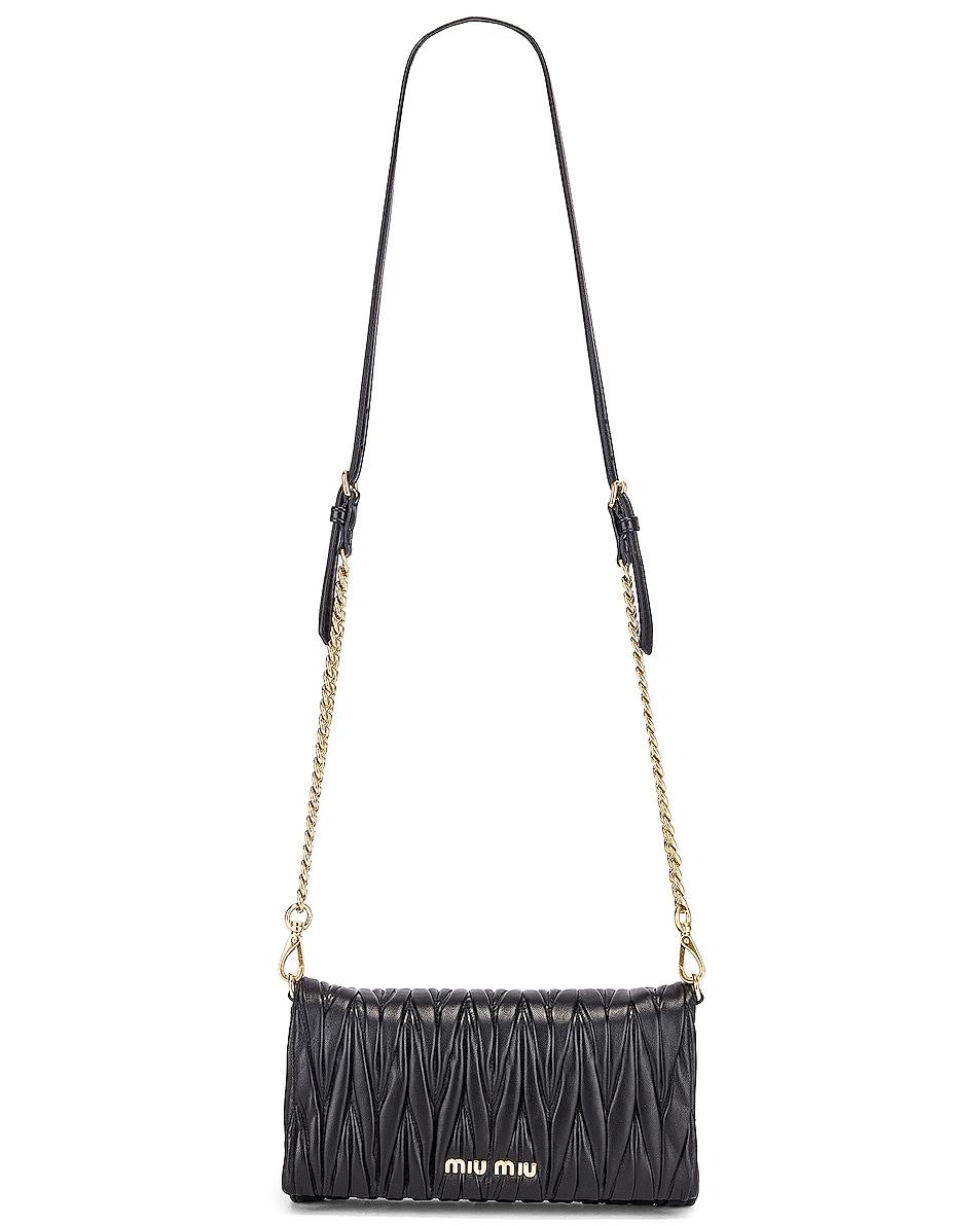 Image 6 of Miu Miu Quilted Crossbody Bag in Black