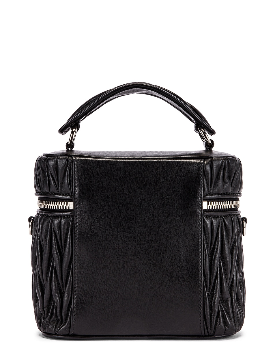 Image 2 of Miu Miu Quilted Mini Bag in Black