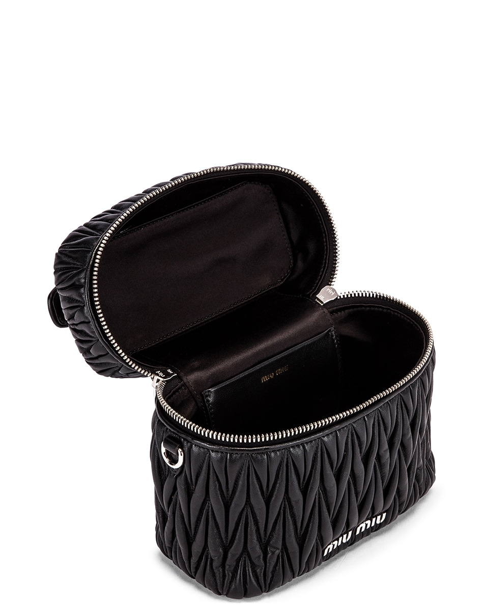 Image 4 of Miu Miu Quilted Mini Bag in Black