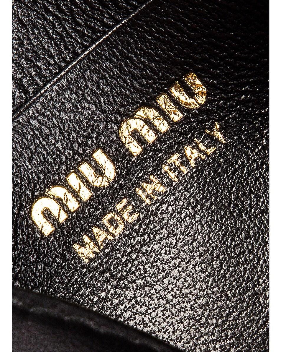 Image 5 of Miu Miu Quilted Belt Bag in Black