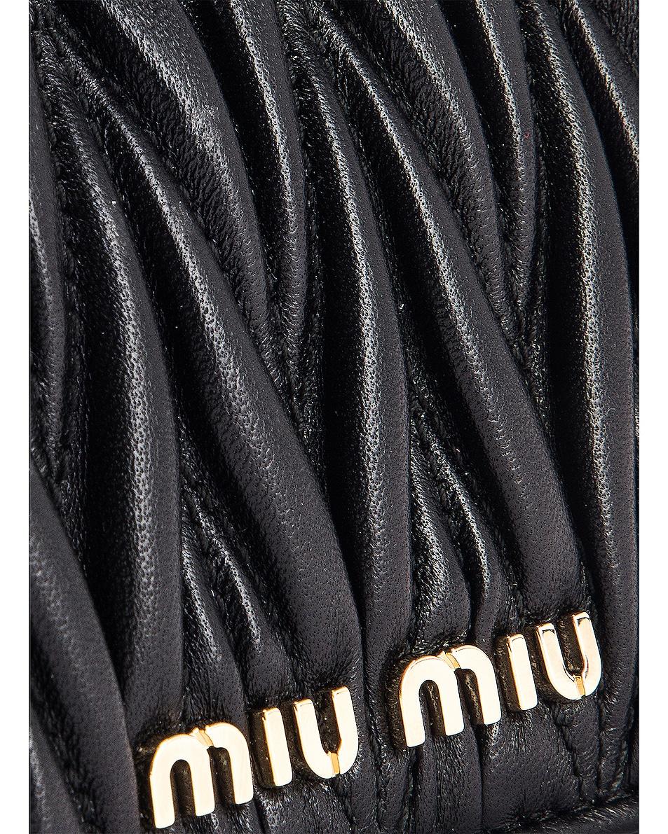 Image 6 of Miu Miu Quilted Belt Bag in Black