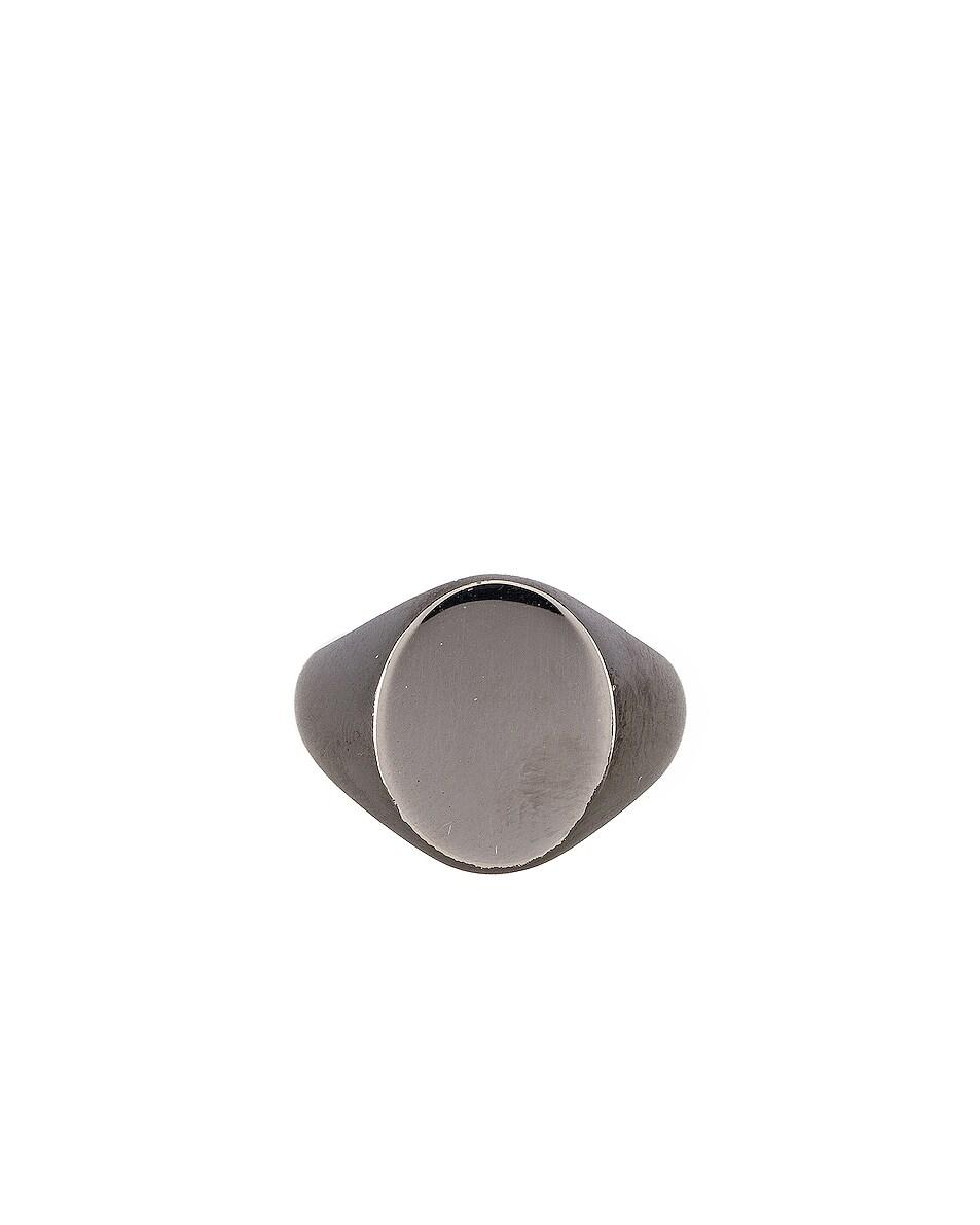 Image 1 of Maison Margiela Ring in Palladium & Black