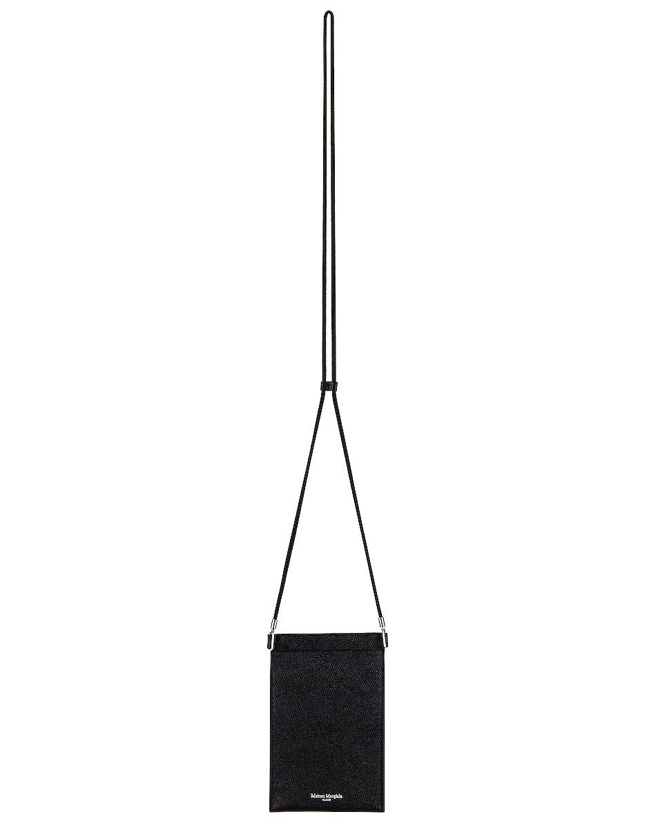 Image 1 of Maison Margiela Neck Wallet in Black