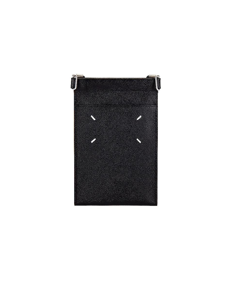 Image 3 of Maison Margiela Neck Wallet in Black