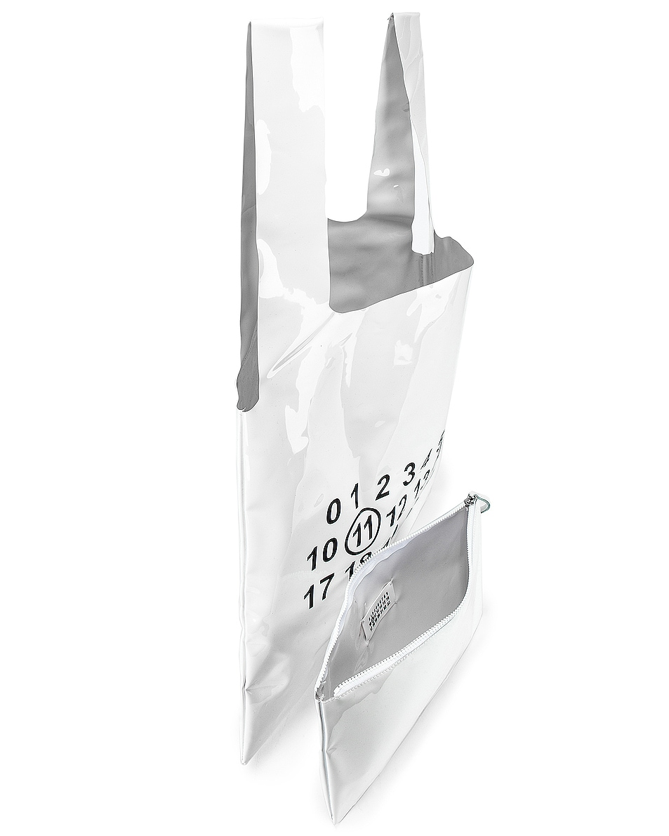 Image 4 of Maison Margiela Tote Bag in White & Black
