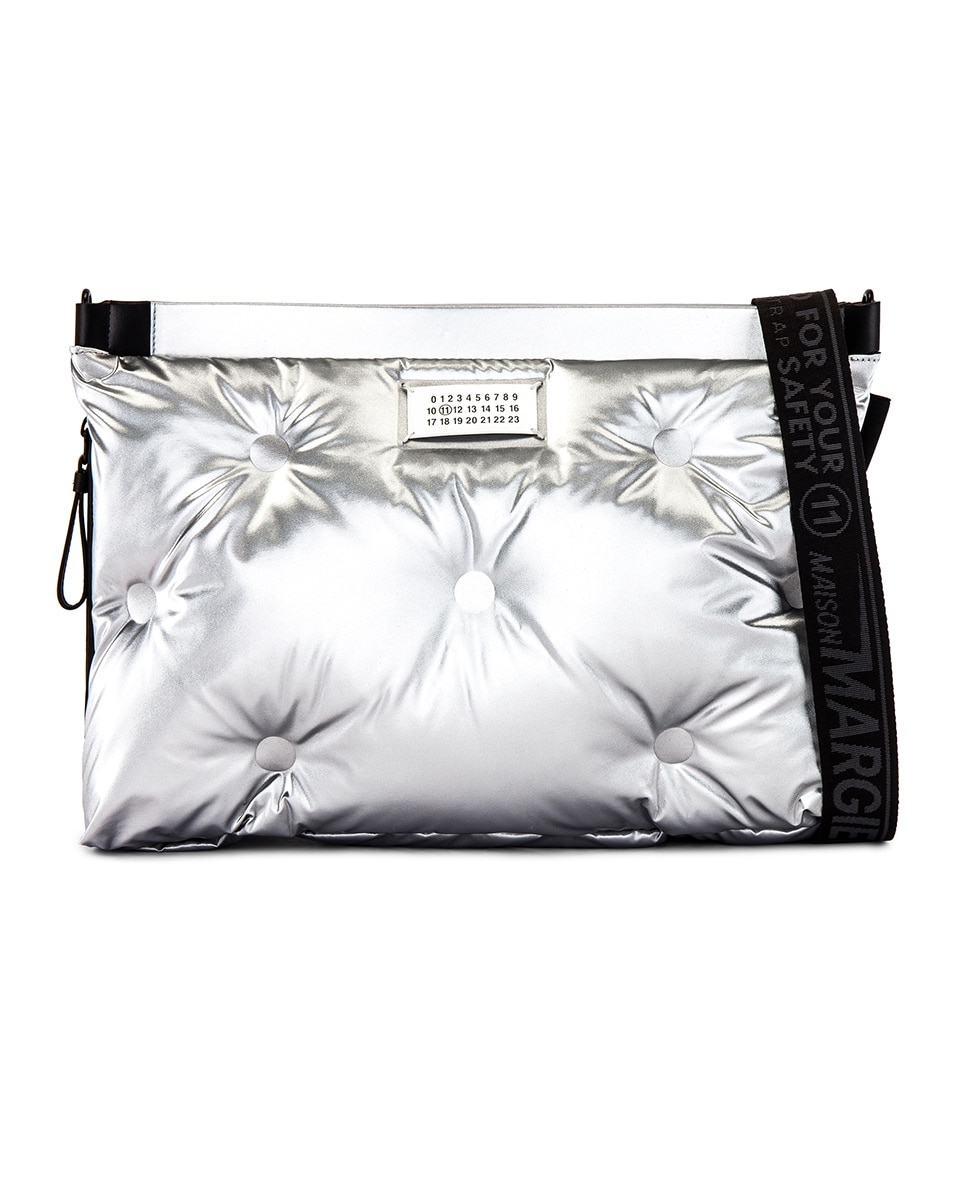 Image 1 of Maison Margiela Two-way Glam Slam Bag in Silver