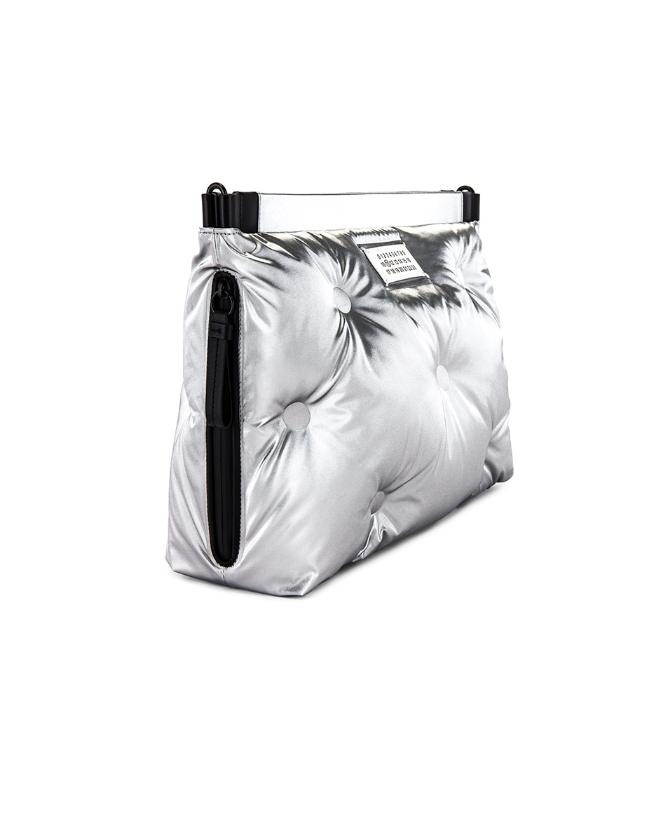 Image 3 of Maison Margiela Two-way Glam Slam Bag in Silver