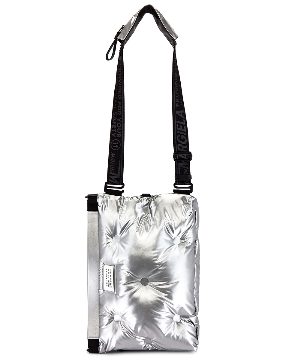 Image 7 of Maison Margiela Two-way Glam Slam Bag in Silver