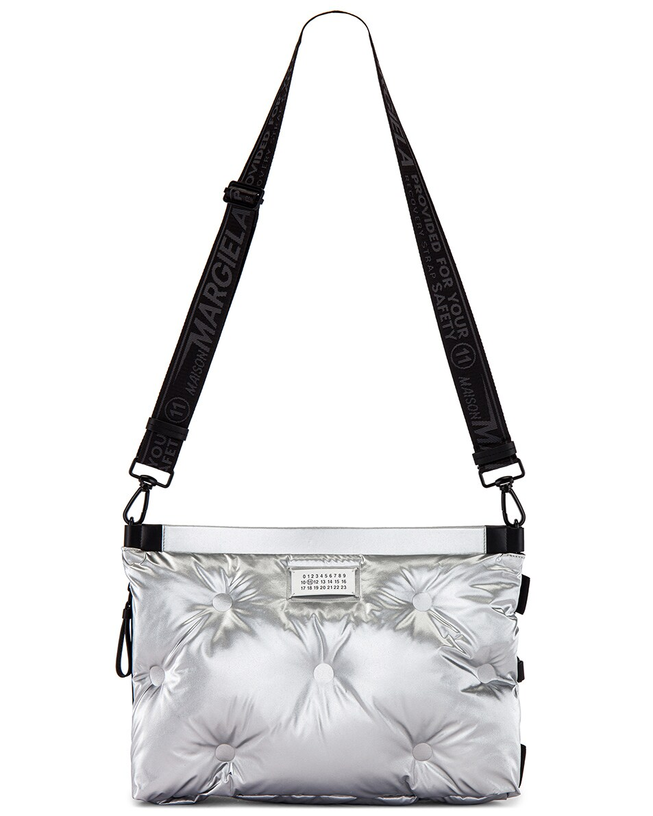 Image 8 of Maison Margiela Two-way Glam Slam Bag in Silver