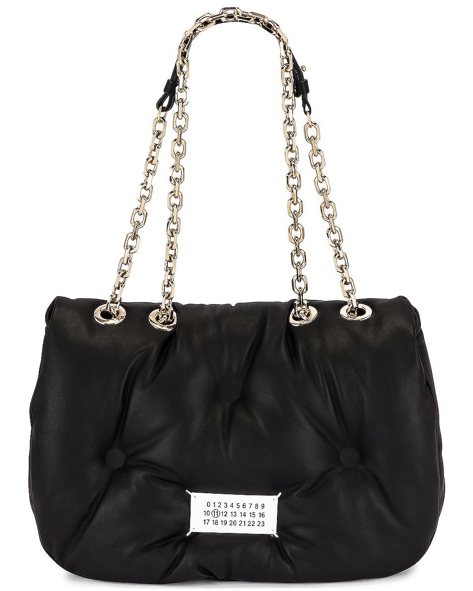 Image 1 of Maison Margiela Glam Slam Flap Shoulder Bag in Black