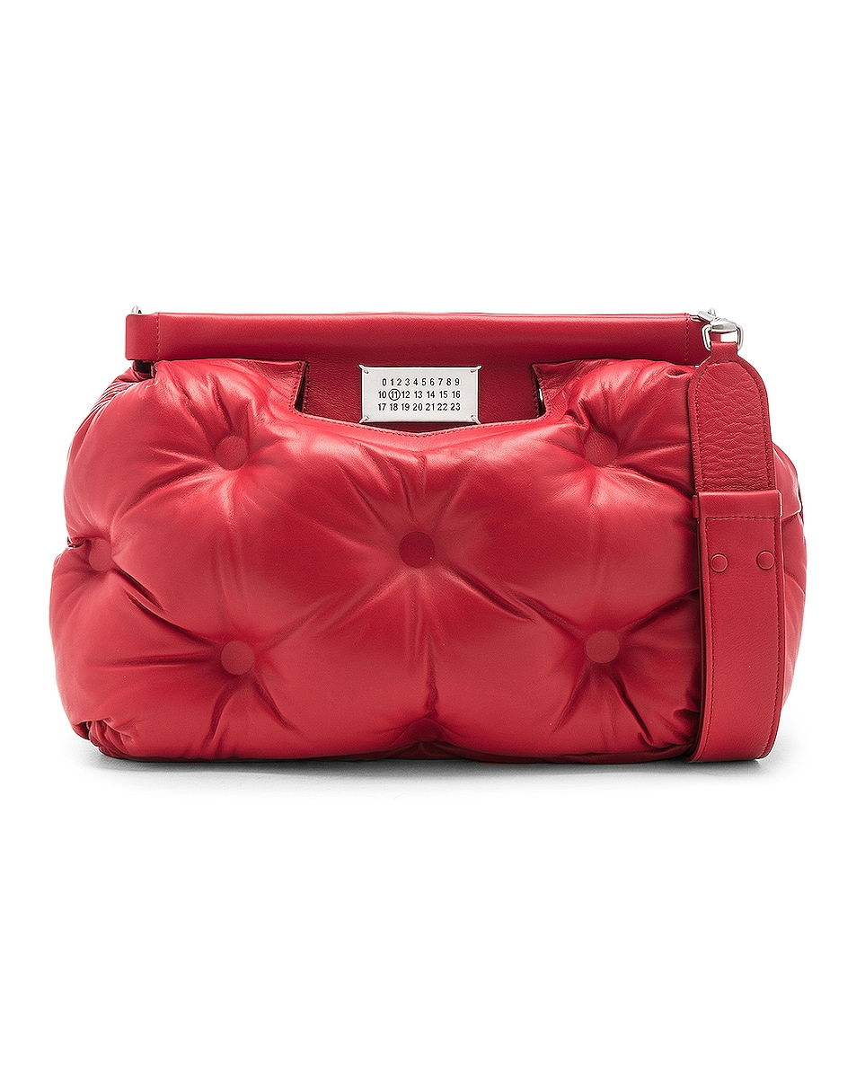 Image 1 of Maison Margiela Glam Slam Shoulder Bag in Haute Red