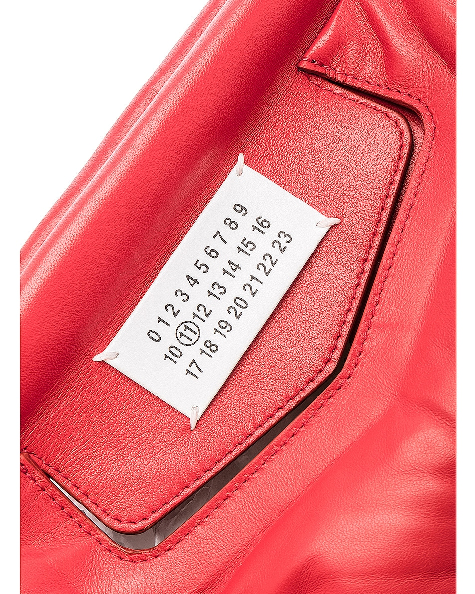 Image 7 of Maison Margiela Glam Slam Shoulder Bag in Haute Red