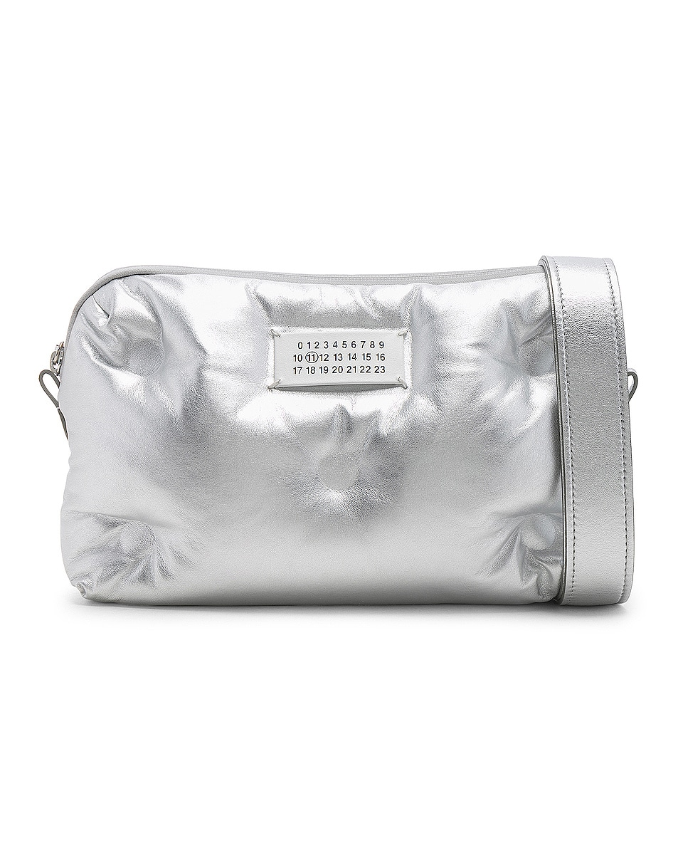 Image 1 of Maison Margiela Glam Slam Number Crossbody Bag in Silver
